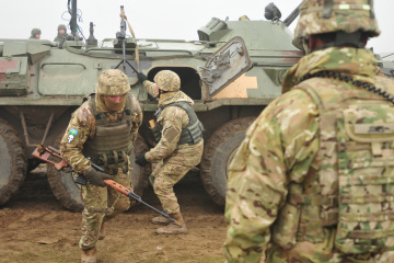 Invaders fire mortars, grenade launchers at Ukrainian positions in Donbas
