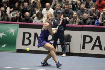 Lesya Tsurenko en finale du tournoi WTA d'Acapulco