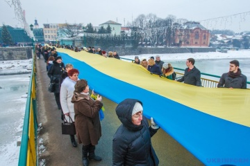 Aujourd'hui les Ukrainiens célèbrent la Journée de l'Unité du pays