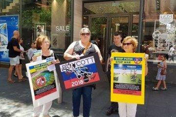 "Ukrainians of Australia hold protest action ""Kick off the dictator, stop Putin"". Photos"