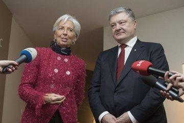 """Lagarde califica de """"constructiva"""" la reunión con Poroshenko"""