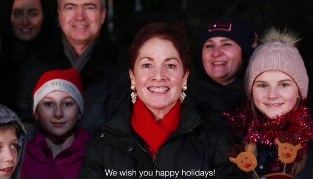 Посол США привітала українців зі святами