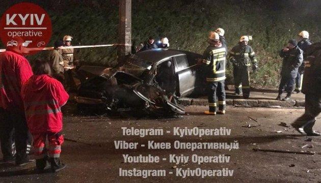 В Киеве столкнулись иномарки, четверо пострадавших