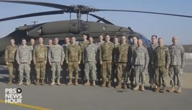 US military sing English version of Shchedryk. Video