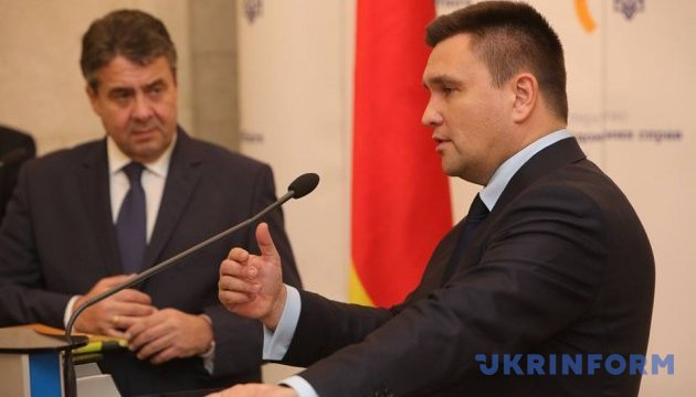 Klimkin, Gabriel discuss situation in Donbas and Crimea
