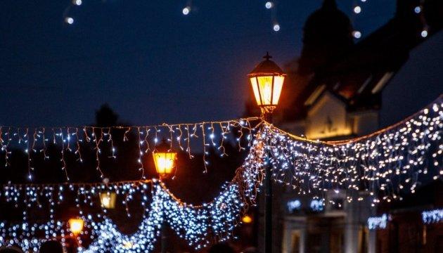Ужгород засяяв різдвяними вогнями