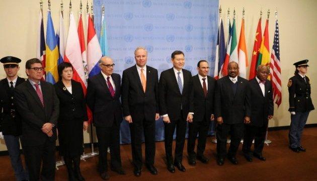 Прапори новообраних країн Радбезу вперше підняли в ООН
