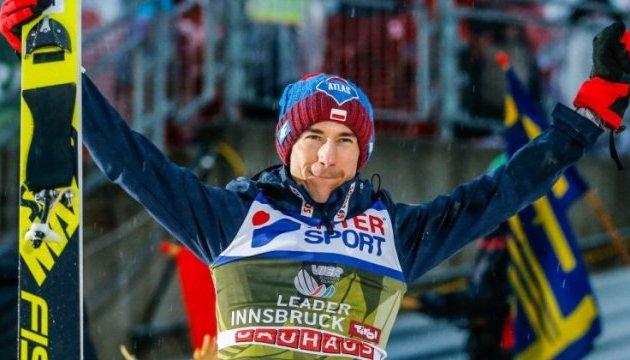 Турне четырех трамплинов: Поляк Стох - второй в истории, кто выиграл все четыре этапа