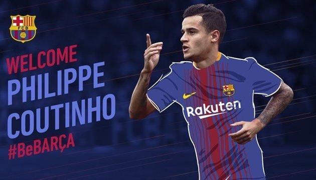 «Барселона» купила у «Ліверпуля» півзахисника Коутіньйо за €160 мільйонів