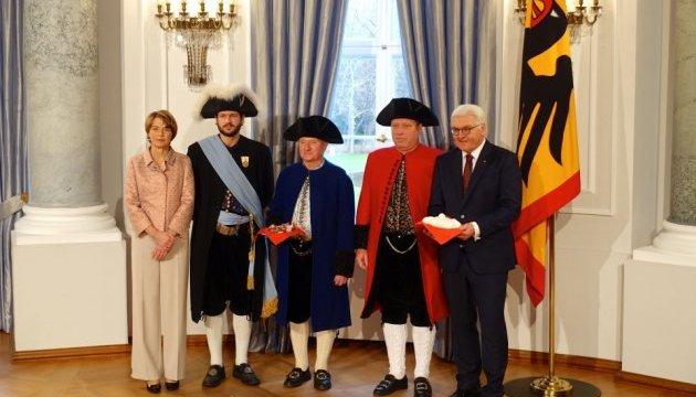 Штайнмайер провел новогодний прием во дворце Бельвю