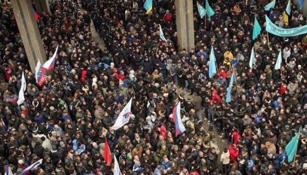 Чубаров розповів про людей з автоматами на мітингу 26 лютого 2014 року
