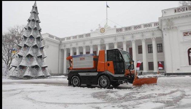 Schneefall in Odessa