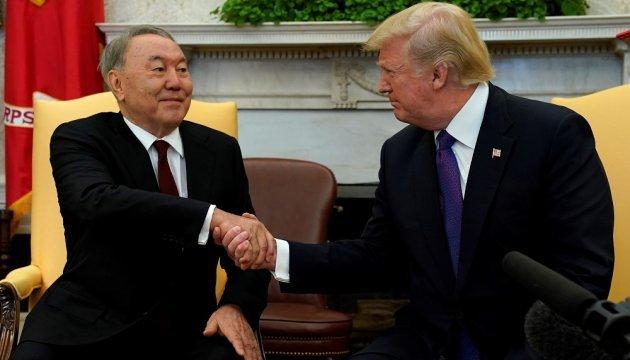Назарбаєв подякував Трампу за підтримку Казахстану