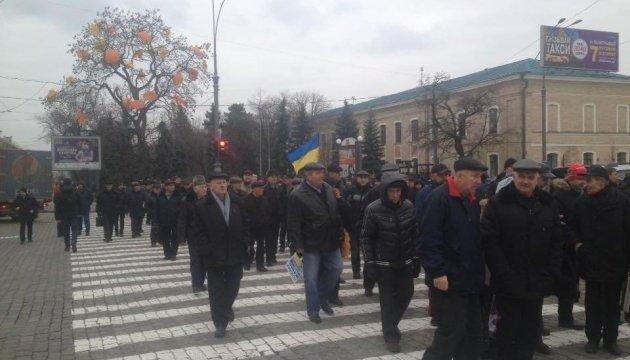Пенсіонери-силовики перекрили деякі дороги в Україні - вимагають підняти виплати