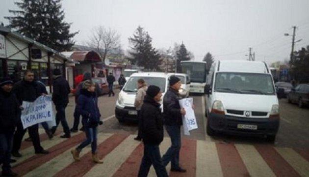 Поліція розслідує перекриття дороги до кордону з Польщею