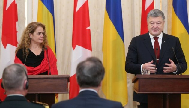 Генерал-губернатор Канади подарувала Порошенку фото України, зроблене нею з космосу