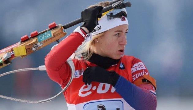 Біатлон: Тіріл Екгоф виграла спринт в Антгольці, Віта Семеренко - 22-а