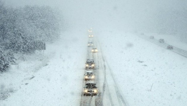 У шістьох областях різко погіршується погода: сильний сніг та вітер