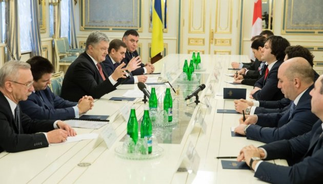 Poroshenko offers Georgia to join work on improving mechanism of sanctions against Russia