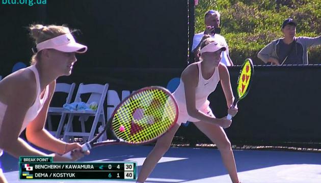 Australian Open: Дема и Костюк проиграли на старте парного юниорского турнира