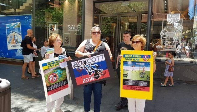 Ukrainians of Australia hold protest action