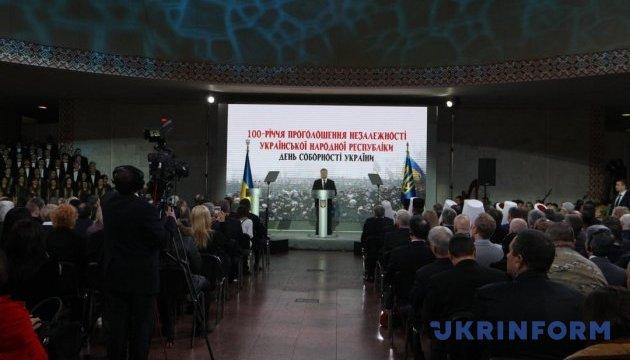 Україна однією з перших проголосила незалежність від Російської імперії — Порошенко