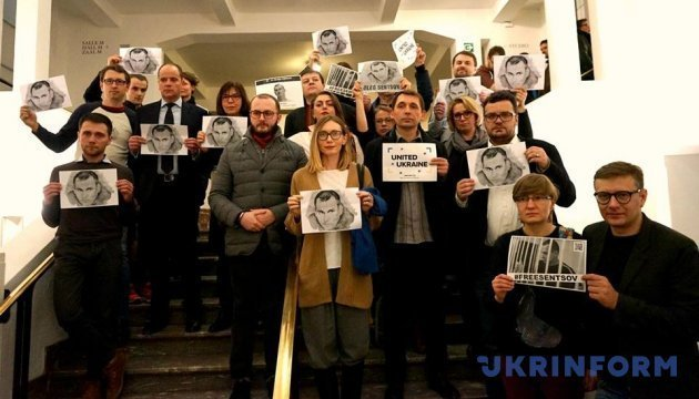 Days of Ukrainian Cinema in Brussels ended with action in support of Oleg Sentsov