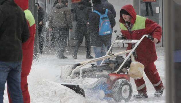 Over 2,100 tonnes of snow removed from streets of Kyiv in past day