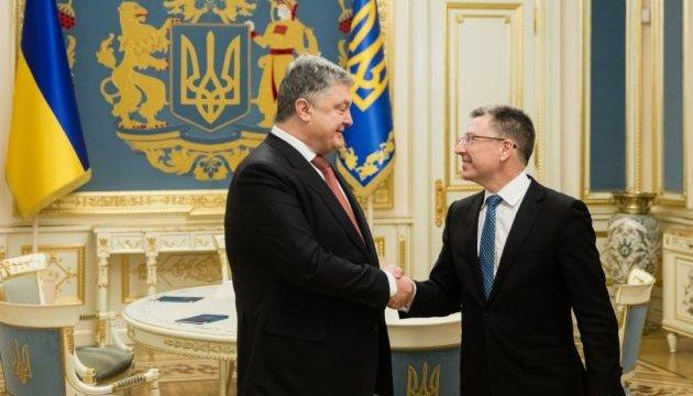 Poroschenko und Volker sprechen über Wiederherstellung territorialer Integrität der Ukraine