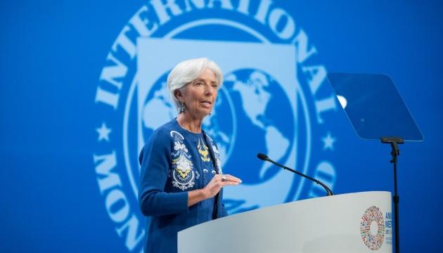 Christine Lagarde a déclaré que l'entretien avec Petro Porochenko avait été constructif