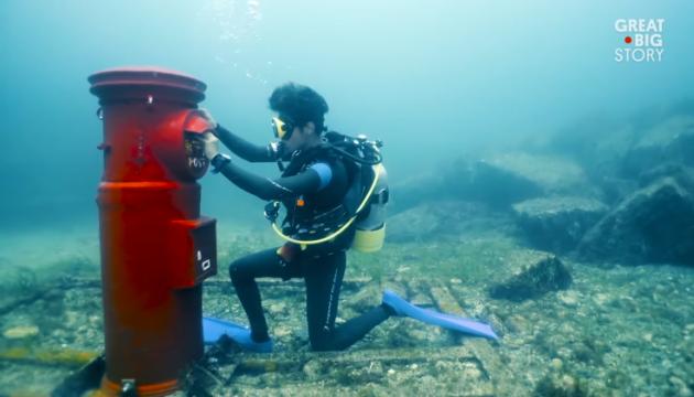 Японське містечко приваблює туристів підводною поштою