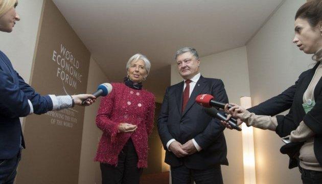 Порошенко – після переговорів із Лагард: Сподіваюся на ефективну співпрацю з МВФ