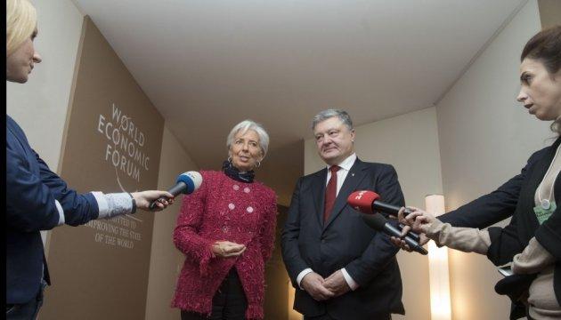 Treffen mit Lagarde: Poroschenko hofft auf gute Zusammenarbeit mit IWF