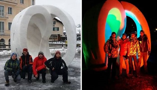 Українці перемогли на фестивалі сніжної скульптури у Швейцарії