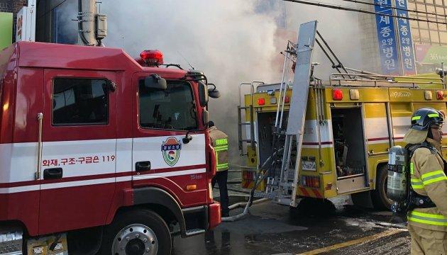 Пожежа в Південній Кореї: кількість загиблих у лікарні перевищила 40