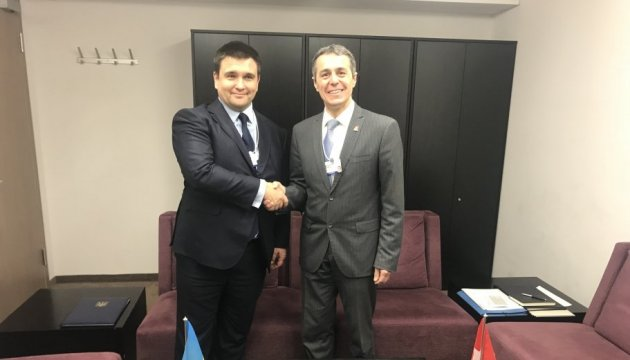 Klimkin discusses with his Swiss counterpart intensification of bilateral cooperation