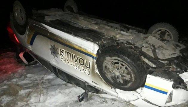 На Тернопольщине перевернулось авто полиции, которое преследовало Audi на