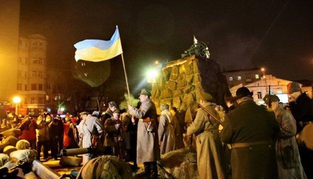 У Києві показали реконструкцію бою військ УНР проти більшовиків на заводі