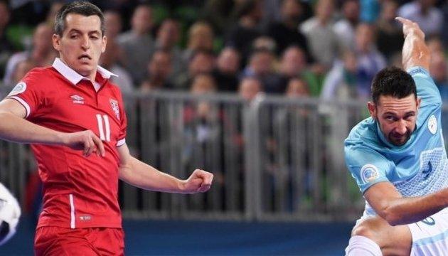 Словенцы не удержали победу над сербами на старте домашнего Евро-2018 по футзалу