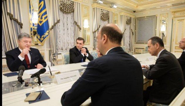 Poroschenko informiert Alfano über Situation im Donbass