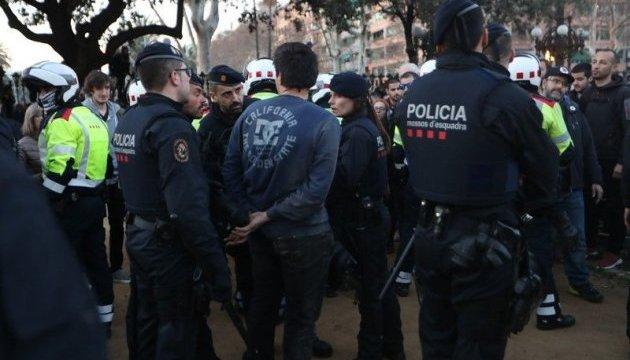 В Барселоне произошли столкновения полиции с демонстрантами