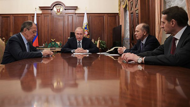 Лавров, Путин, Наришкин, Бортников