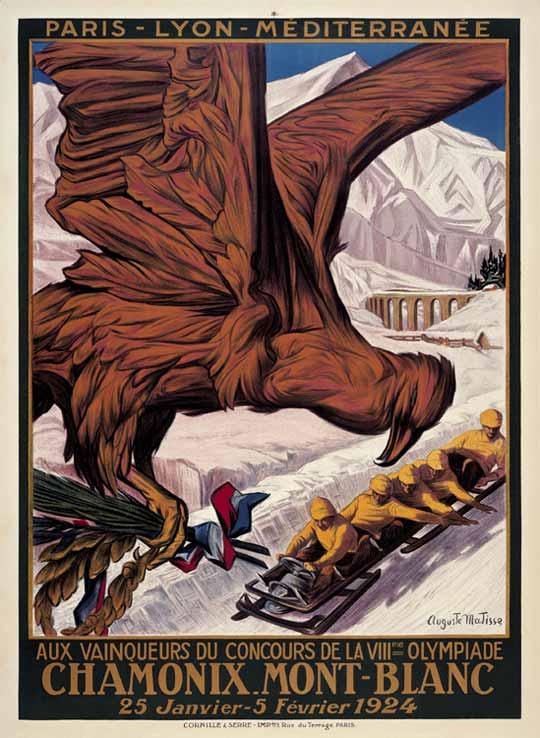 Офіційний плакат І Зимових Олімпійських ігор 1924 року