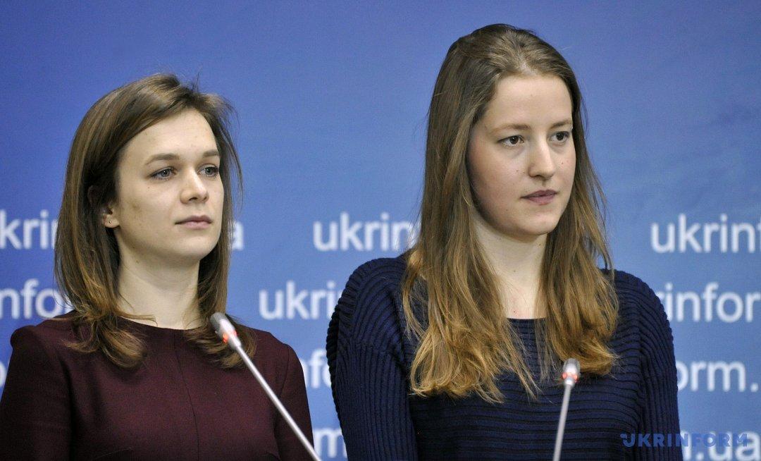 Авторки проекту-переможця, Ірина Волинець та Марія Процик