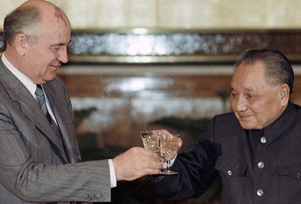 Михайло Горбачов і Ден Сяо-пін (1989 рік)