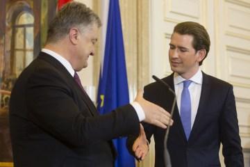 Poroschenko empfängt morgen österreichischen Bundeskanzler Sebastian Kurz
