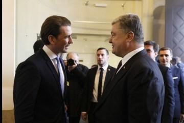 Poroschenko trifft sich mit Bundeskanzler Kurz