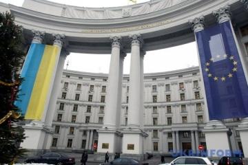 Ukraina zastrzega sobie prawo do podjęcia działań w odpowiedzi na sankcje rosyjskiego MSZ
