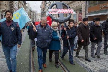 Annexion der Krim: Proteste vor russischem Konsulat in Istanbul