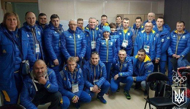 Sergiy Bubka recibe al primer grupo de olímpicos ucranianos en Pyeongchang